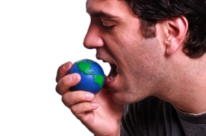iStock_man eating earth